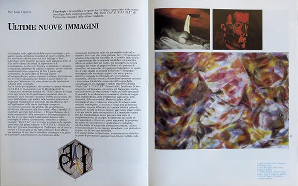Fig. 6 - Apertura dell'articolo di Pier Luigi Capucci (1991/1).