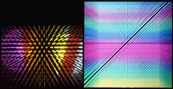 Fig. 3 - Roberto Pieracini, campagna pubblicitaria per il lancio del computer Olivetti M20, 1982; elaborazioni fotografiche realizzate a partire da matrici negative retroilluminate / Archivio Pieracini, Pesaro.