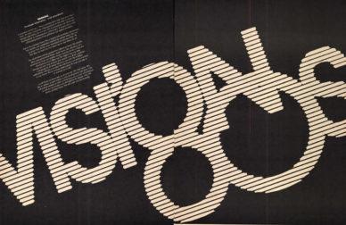 """Fig. 13 Doppia pagina del numero speciale di U&lc """"Vision '80s""""."""