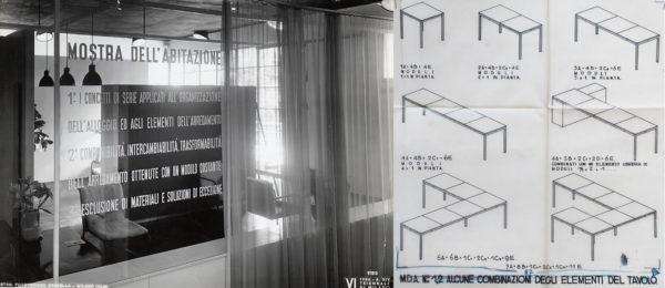 best website 8201c f6b4a 4 – Mostra dell Abitazione, Alloggio per quattro persone  pannello  introduttivo elencante i tre principi della mostra e disegno delle  possibili combinazioni ...
