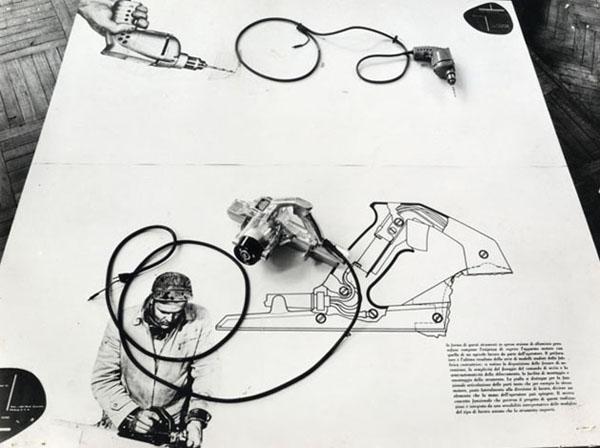 """Rassegna Internazionale dell'Industrial Design, dettaglio dell'allestimento, 1940 (©Archivio Storico """"La Triennale di Milano"""")"""