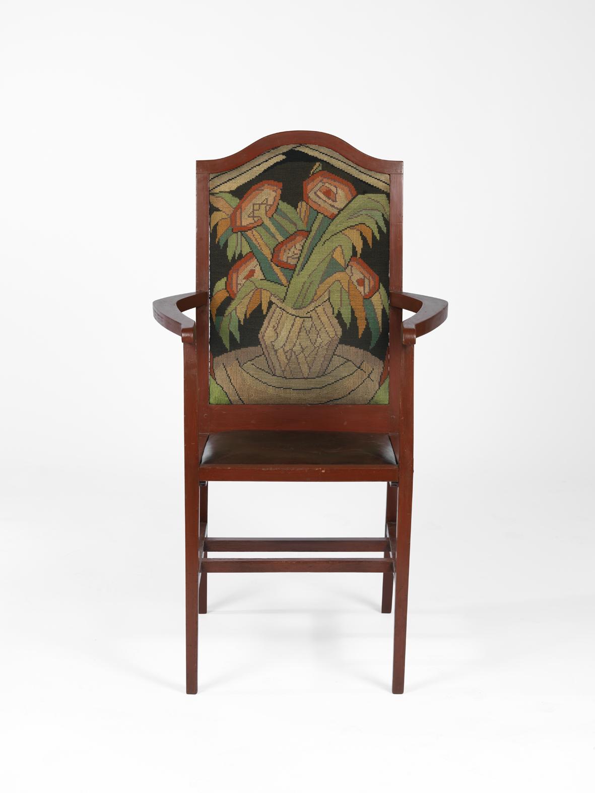 R. Fry, W. Gill, V. Bell (attr) - 1913, sedia con schienale ricamato, 1913, © Mart Rovereto, 2012