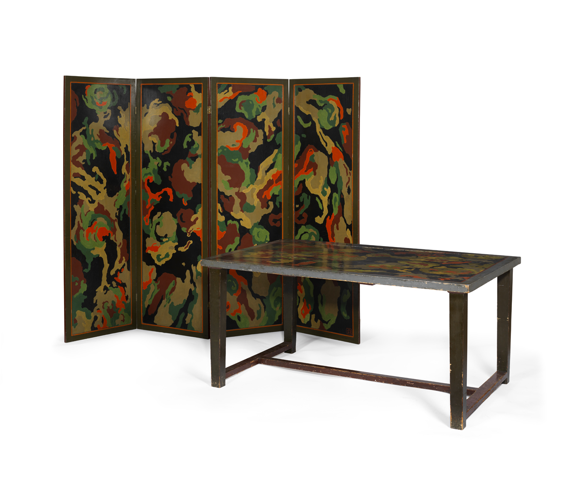 Duncan Grant, paravento e tavolo con ninfee, 1913-14, © Mart Rovereto, 2012