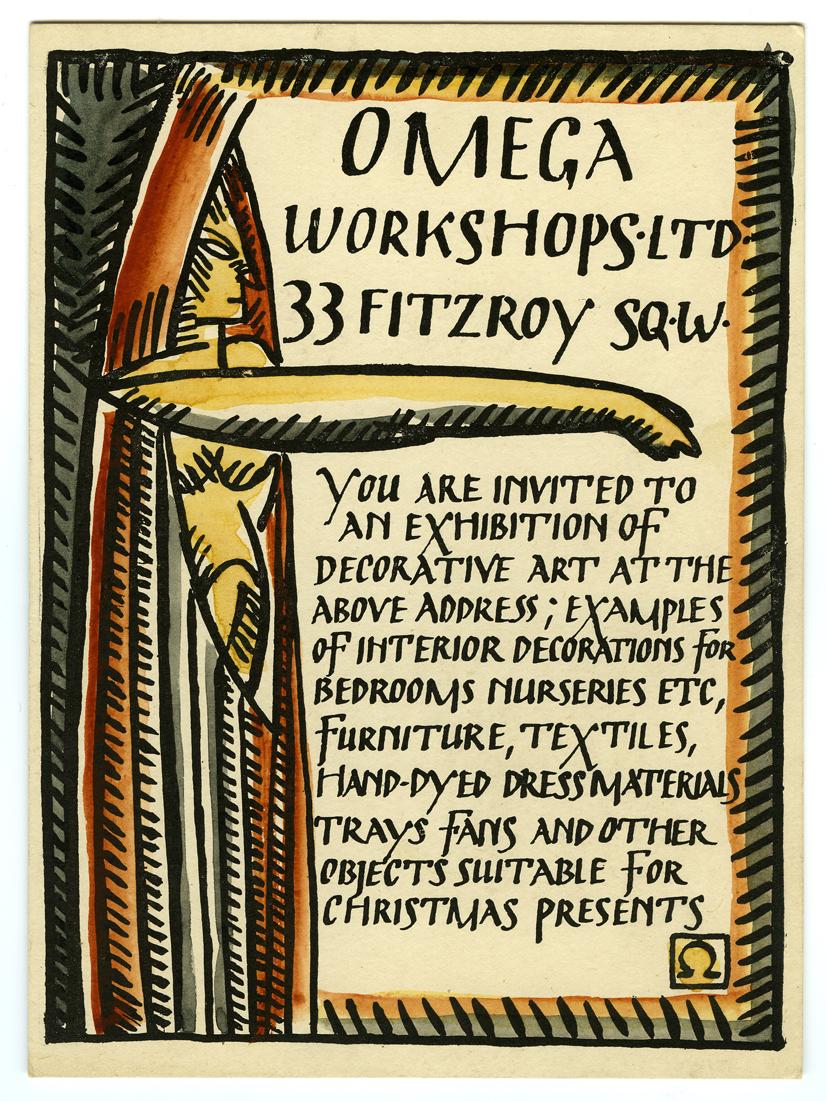 Duncan Grant, invito per la mostra degli Omega Workshops, ca 1913 © Mart Rovereto, 2012