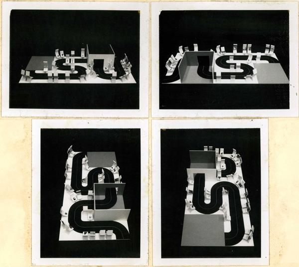 Sala Informatica IBM Italia al Museo della Scienza e della Tecnica di Milano, 1973. Maquette della sezione contemporanea. Progetto di allestimento a cura dello studio MID Design comunicazioni visive, Milano. Courtesy Museo della scienza e della tecnologia Leonardo da Vinci, Milano.