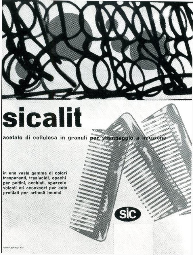 Immagine pubblicitaria di prodotti realizzati in Acetato di Cellulosa.