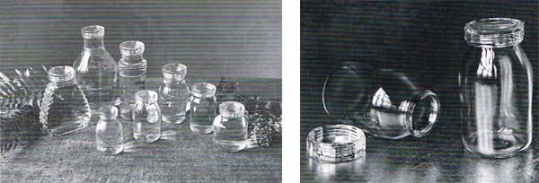 Gli otto barattoli con coperchio in vetro con chiusura a vite
