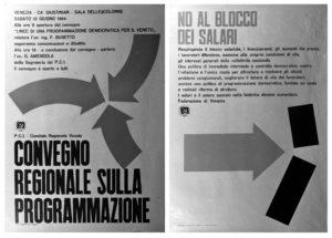 Fig. 2 Diego Birelli e Franco Giacometti, stampe fotografiche di manifesti, Partito comunista italiano – Federazione di Venezia, 1964 / courtesy Archivio Progetti – Università Iuav di Venezia, Fondo Diego Birelli.