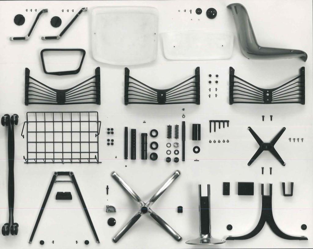 Fig.8 Tutti i componenti del sistema di sedute Modus / courtesy Archivio Borsani, Varedo.