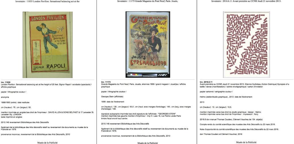 Fig. 2-4 Esempi di schede con scatti non professionale, professionale documentativo e professionale digitalizzazione