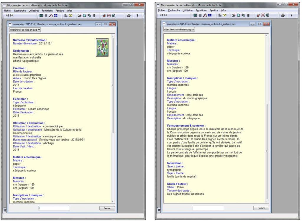 Fig. 8-9 Interfaccia utente del programma Micromusée.