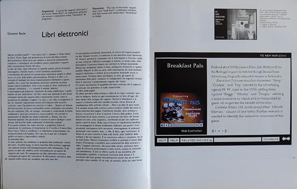 """Fig. 9 - Apertura dell'articolo di Giovanni Baule (1993/5) dal titolo """"Libri elettronici""""."""